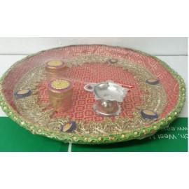 Decorated pooja plate